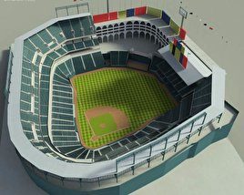 3D model of Rangers Ballpark Baseball Stadium