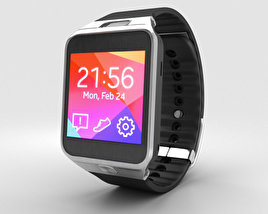 3D model of Samsung Galaxy Gear 2 Charcoal Black