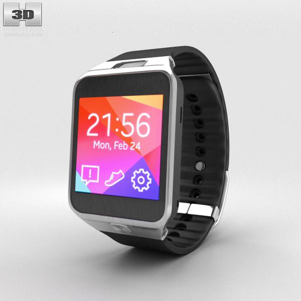 Samsung Galaxy Gear 2 Charcoal Black 3D model