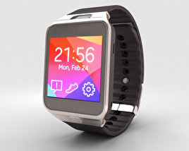 3D model of Samsung Galaxy Gear 2 Gold Brown