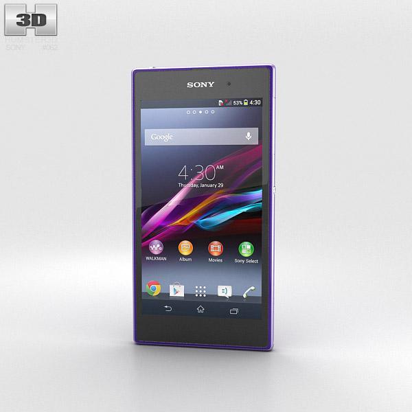 Sony Xperia Z1 Purple 3d model