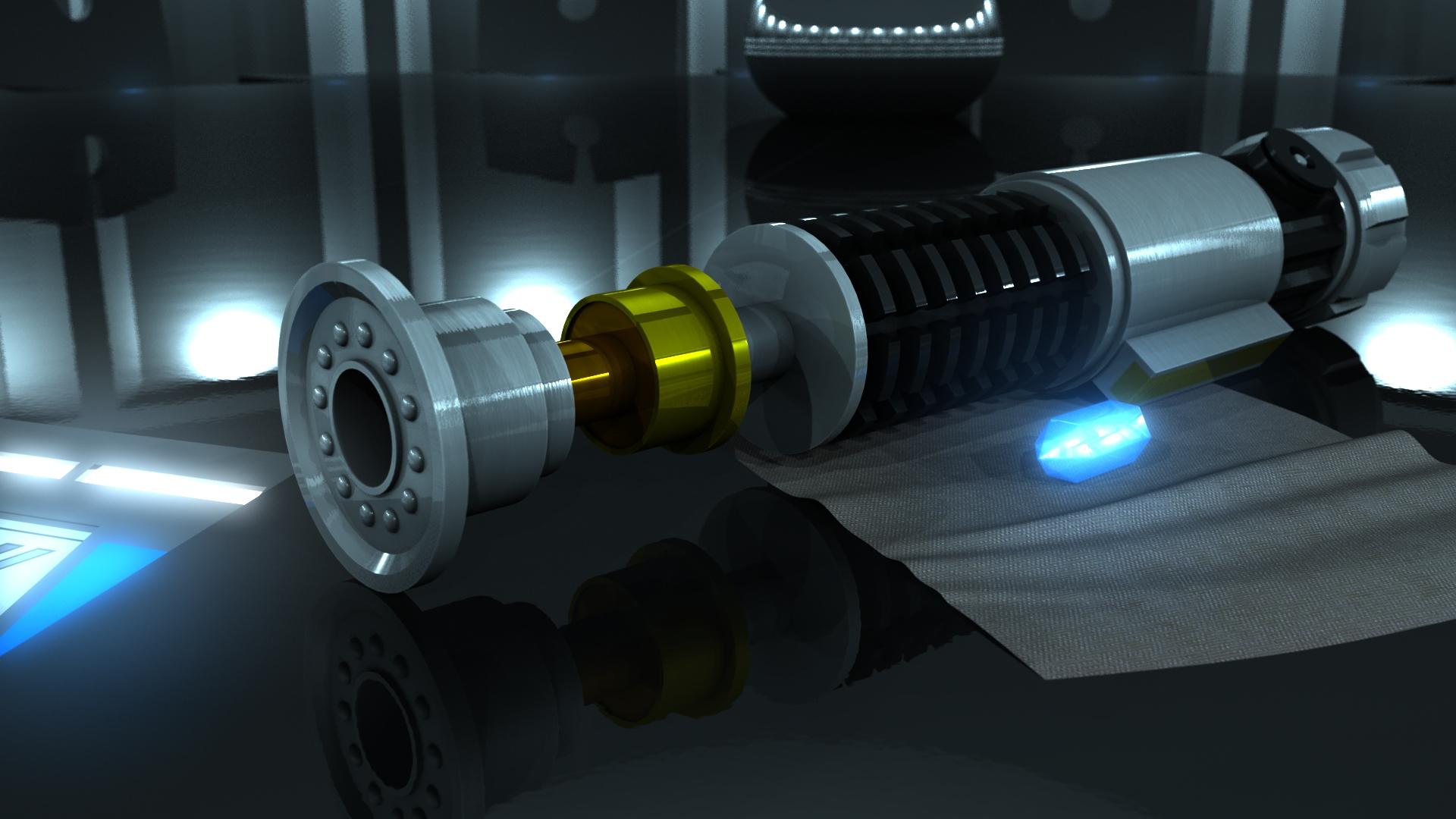 Obi-Wan's Kenobi's Lightsaber 3d art