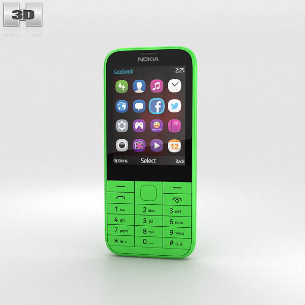 3D model of Nokia 225 Green