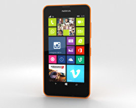 3D model of Nokia Lumia 630 Bright Orange