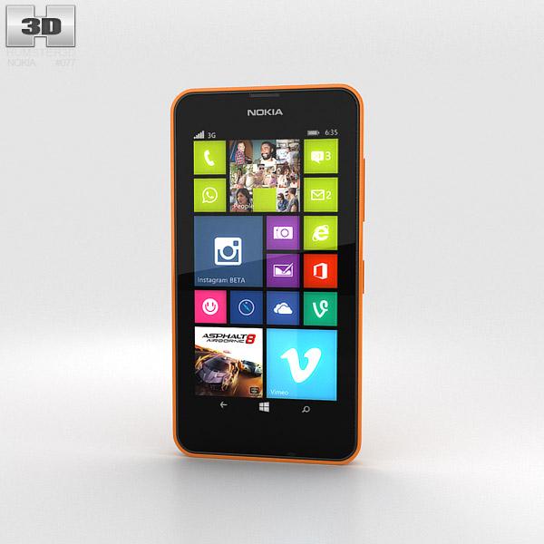 Nokia Lumia 630 Bright Orange 3d model