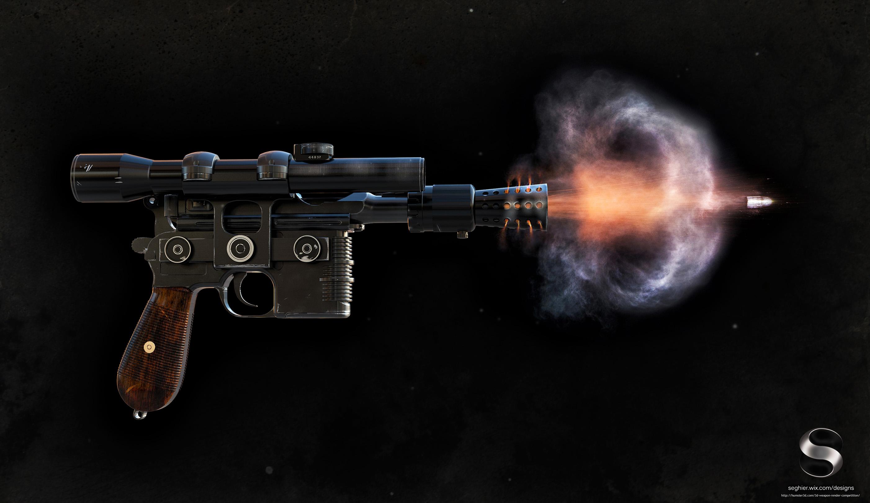 Han Solo´s DL-44 Blaster 3d art