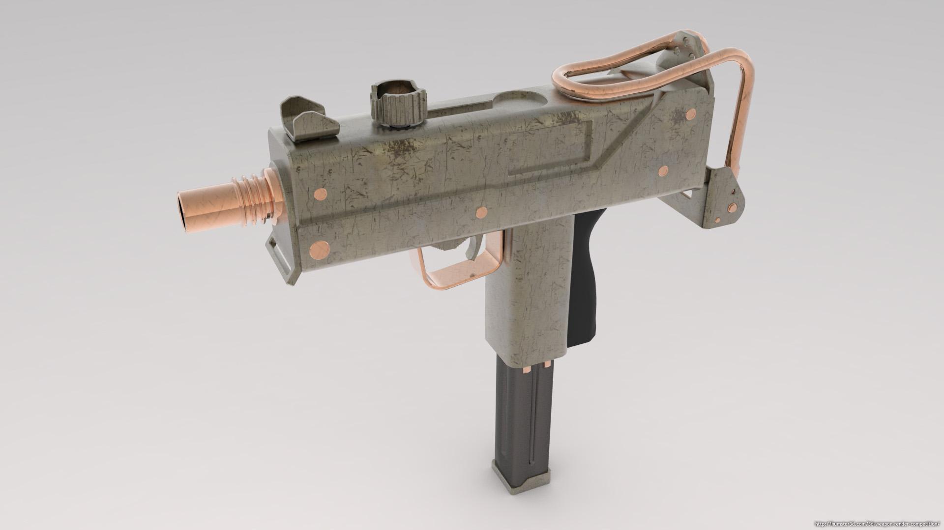Mac 10 Sub Machine Gun 3d art