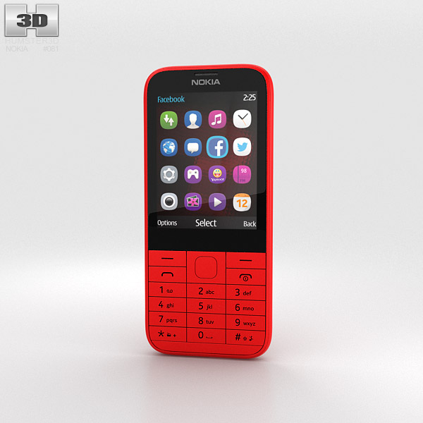 3D model of Nokia 225 Red