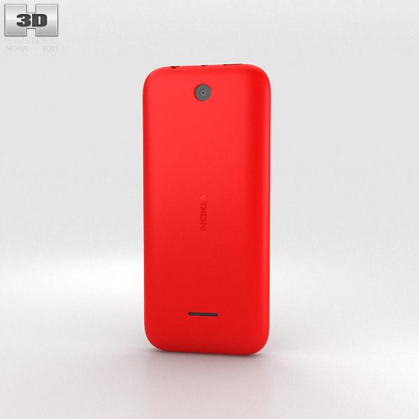 Nokia 225 Red 3d model