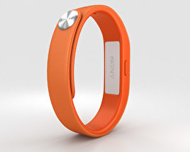 3D model of Sony Smart Band SWR10 Orange
