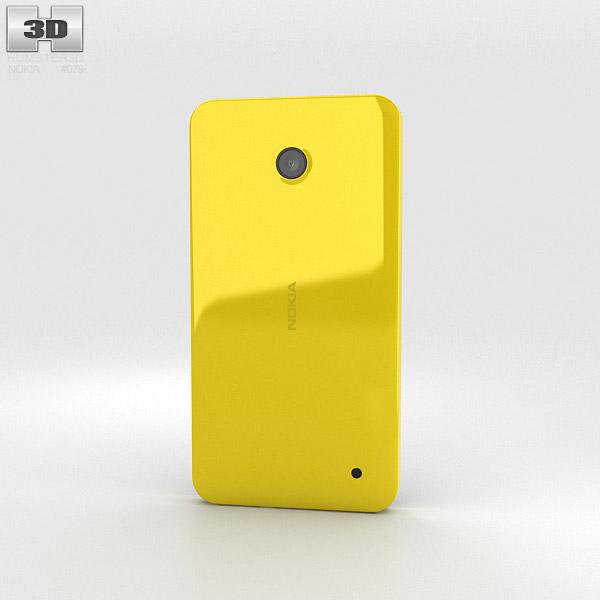 Nokia Lumia 630 Bright Yellow 3d model