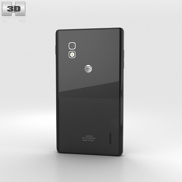 LG Optimus G E970 Black 3d model