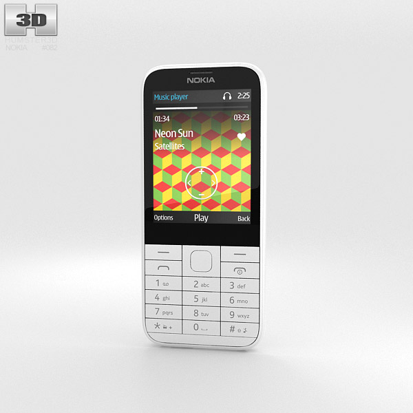 3D model of Nokia 225 White