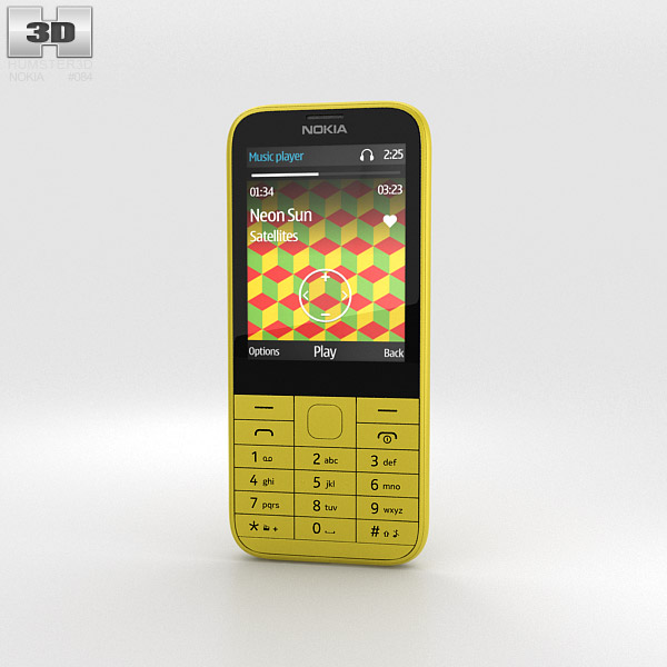 3D model of Nokia 225 Yellow