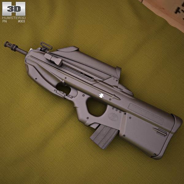 3D model of FN F2000