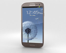 Samsung Galaxy S3 Neo Amber Brown 3D model