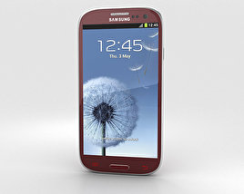 3D model of Samsung Galaxy S3 Neo Garnet Red