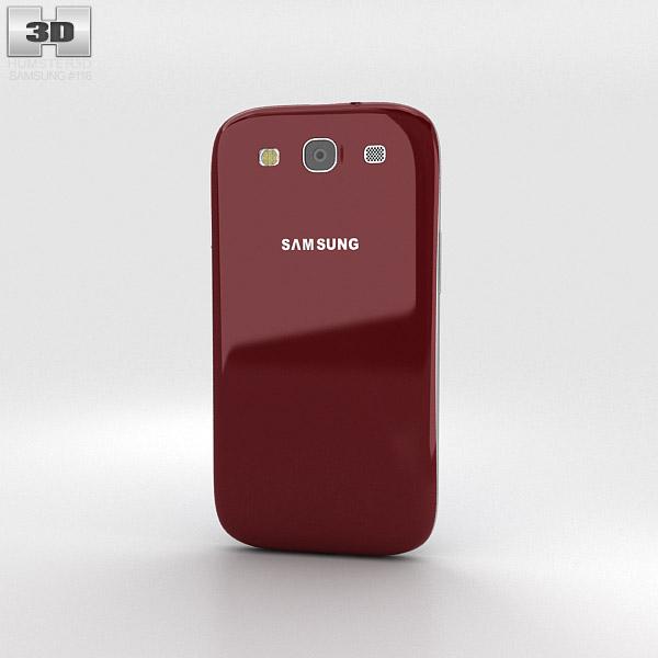 Samsung Galaxy S3 Neo Garnet Red 3d model