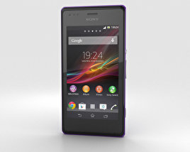 3D model of Sony Xperia M Purple