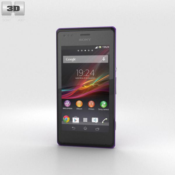 Sony Xperia M Purple 3d model