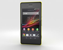 3D model of Sony Xperia M Yellow