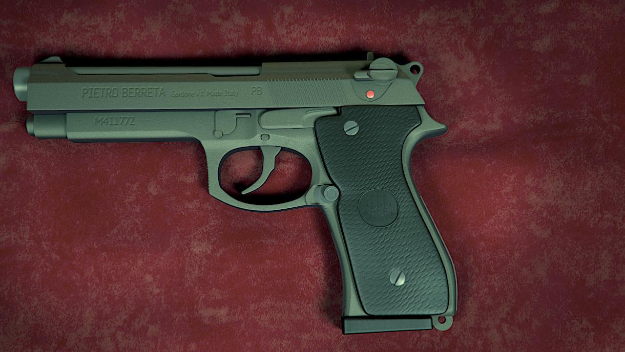 Beretta 3d art
