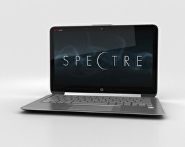 3D model of HP Spectre 13.3 inch Ultrabook Silver