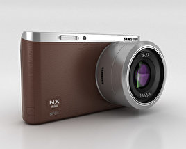 3D model of Samsung NX Mini Smart Camera Brown