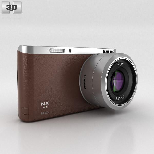 3D model of Samsung NX Mini Smart Camera Brown