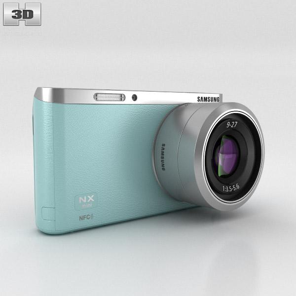 3D model of Samsung NX Mini Smart Camera Mint Green