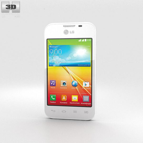 LG L40 Dual White 3d model