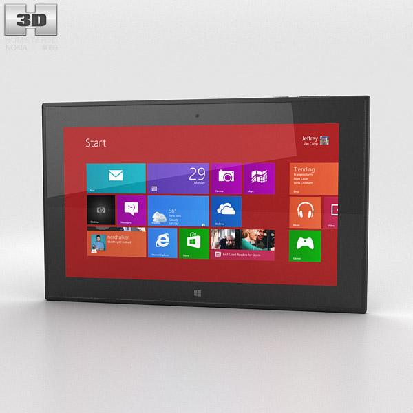 Nokia Lumia 2520 Black 3D model