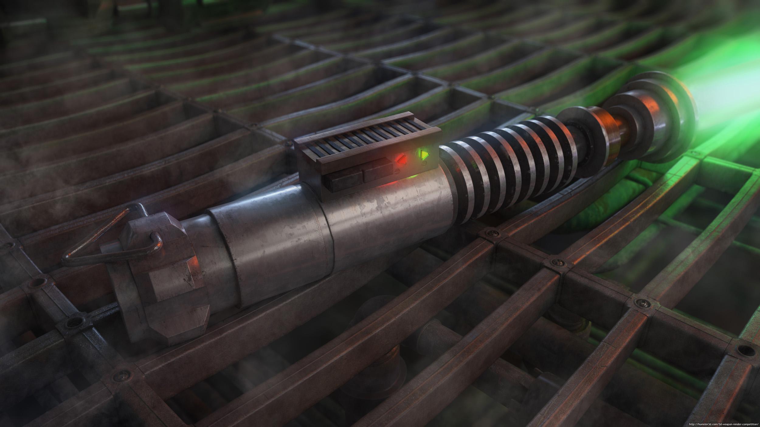 The ROTJ Luke Skywalker Lightsaber 3d art