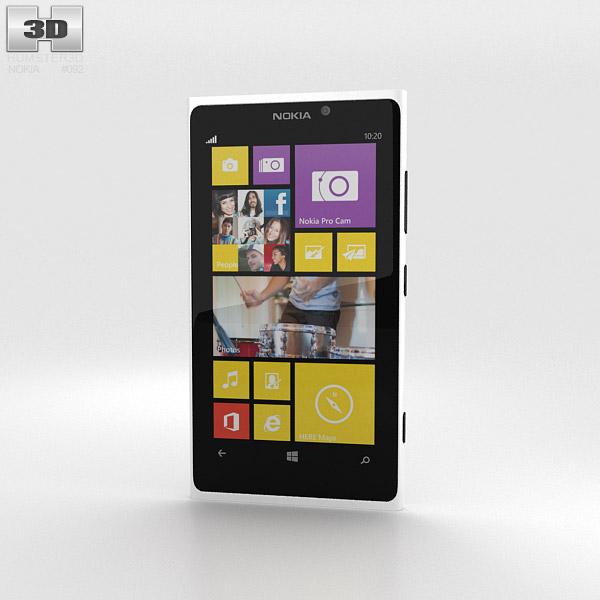 Nokia Lumia 1020 White 3D model