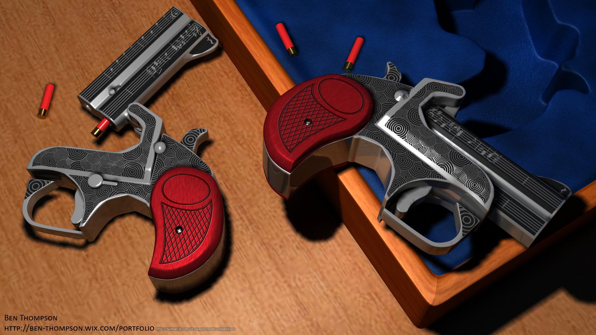 .410 Shotshell Derringer Pocket Pistols 3d art