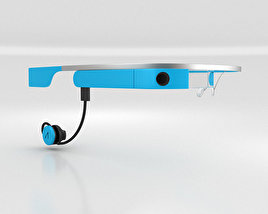 3D model of Google Glass with Mono Earbud Sky