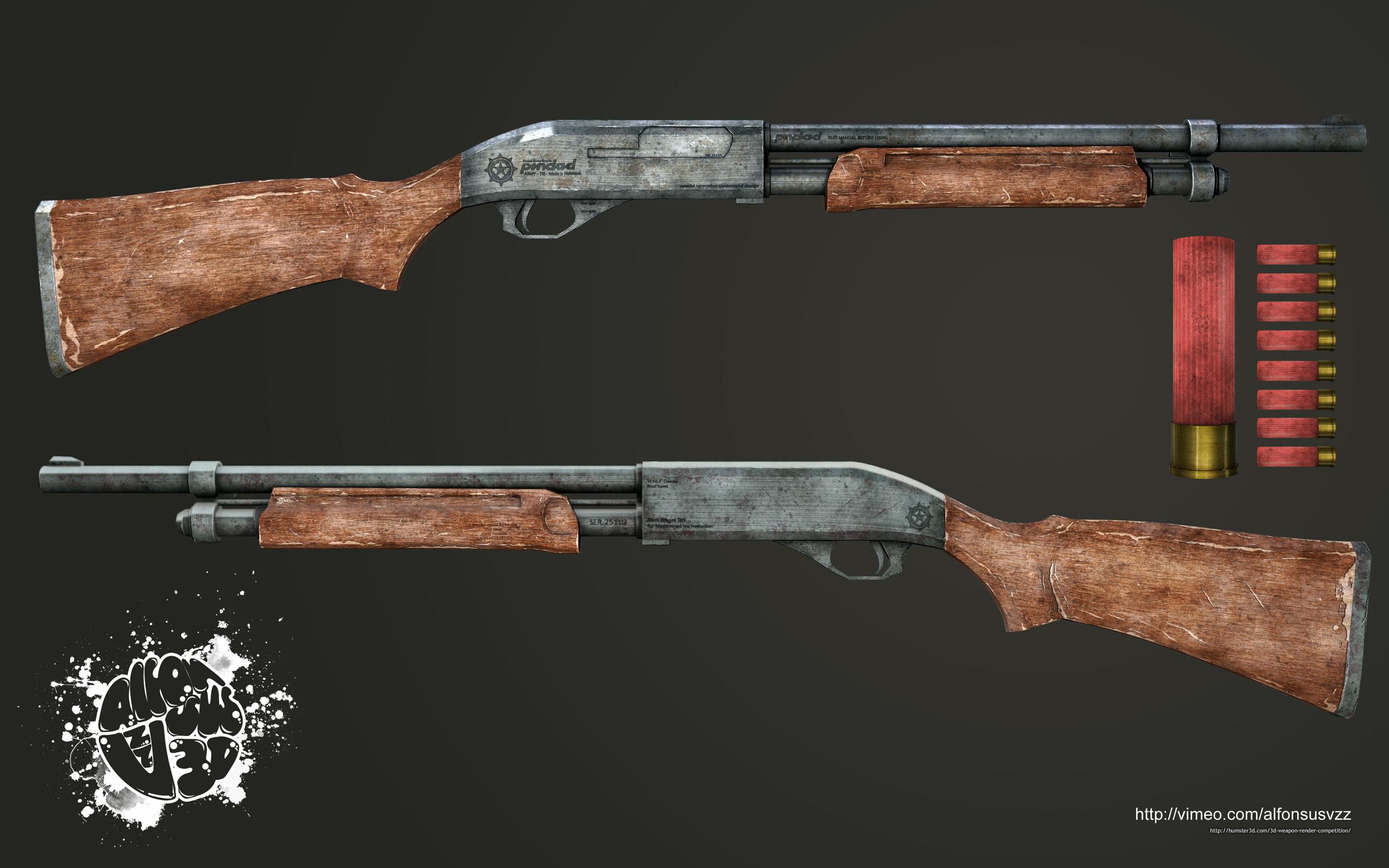 Ordinary Shotgun 3d art