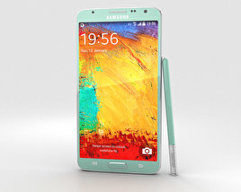 3D model of Samsung Galaxy Note 3 Neo Mint Green