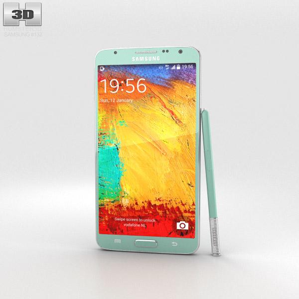 Samsung Galaxy Note 3 Neo Mint Green 3d model