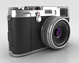3D model of Fujifilm FinePix X100S Silver