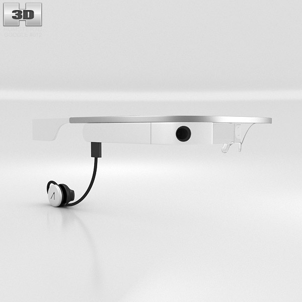 Google Glass with Mono Earbud Cotton 3d model