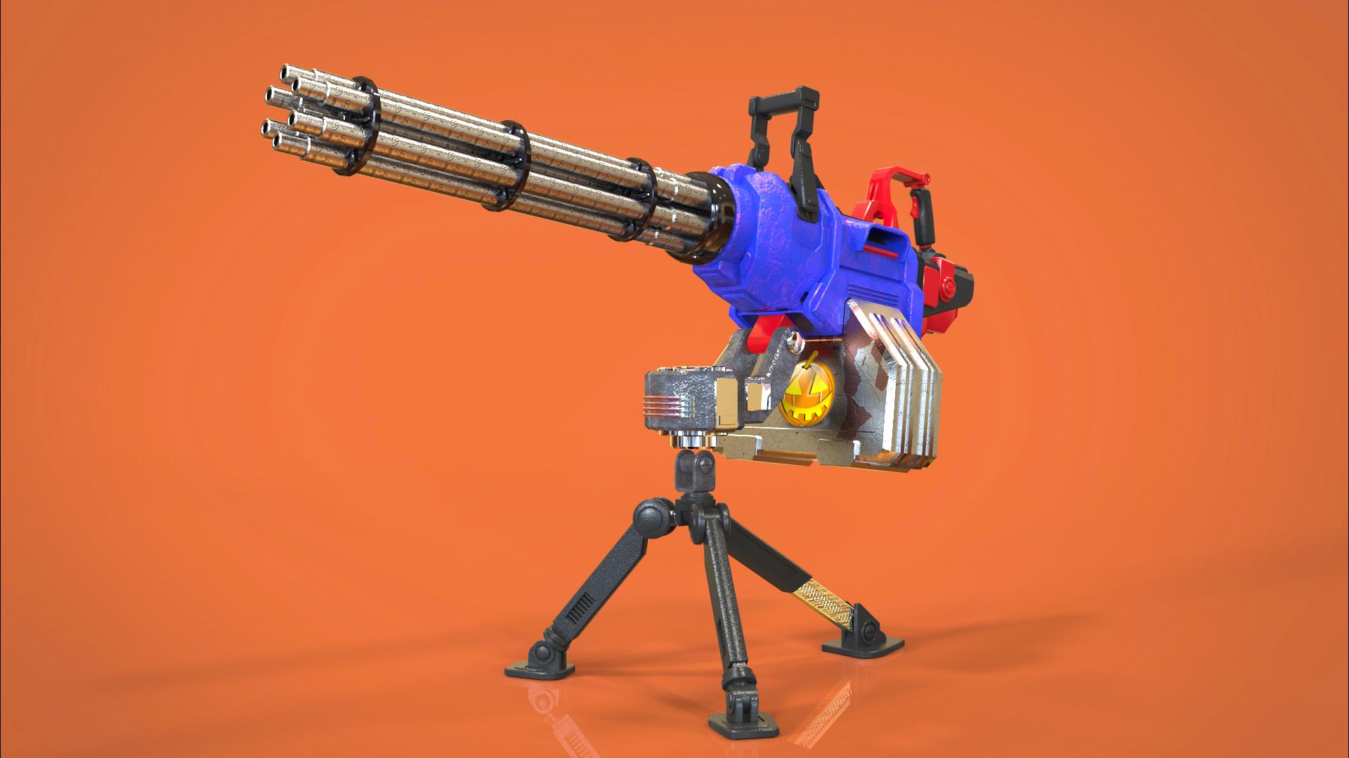 Just mini gun 3d art