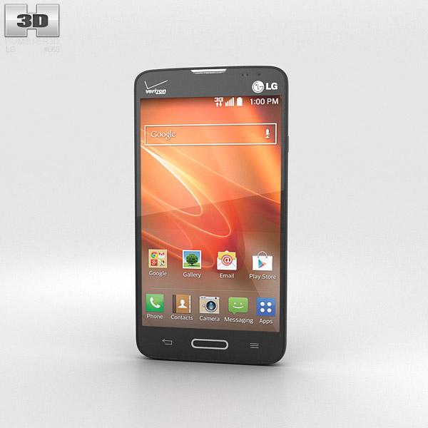 LG Optimus Exceed 2 (VS450PP) Black 3d model