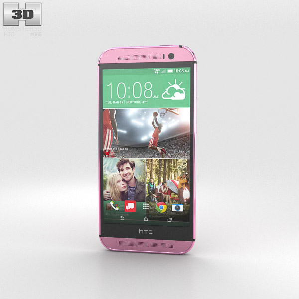 3D model of HTC One (M8) Pink