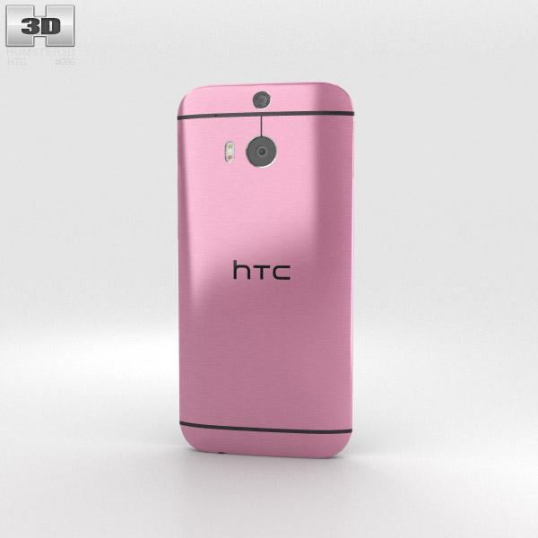 HTC One (M8) Pink 3d model