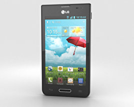 3D model of LG Optimus F3 (P659) Black