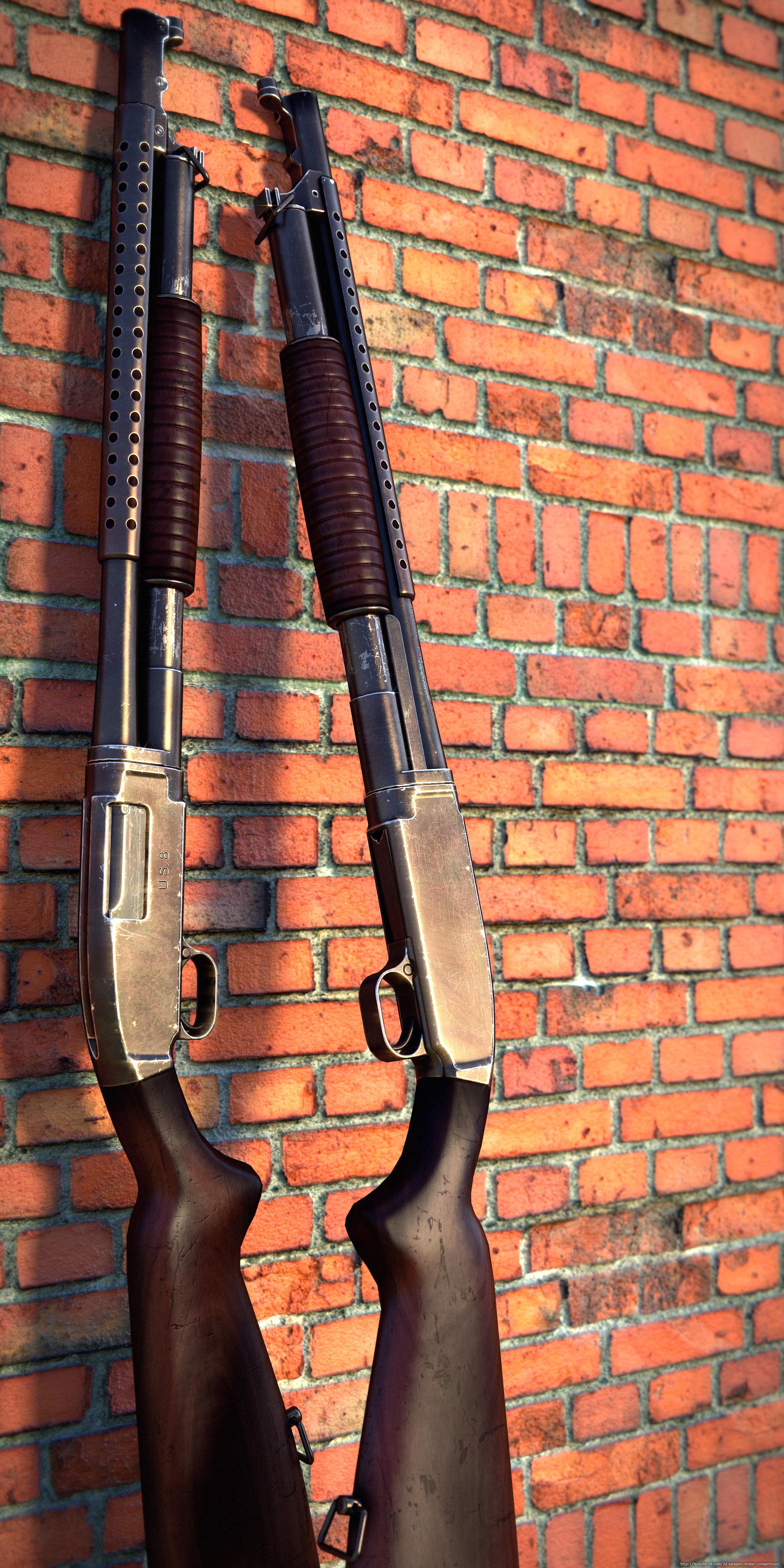 M1912 Winchester 3d art