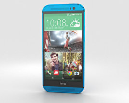 3D model of HTC One (M8) Aqua Blue