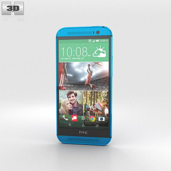 HTC One (M8) Aqua Blue 3D model