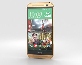 3D model of HTC One (M8) Amber Gold